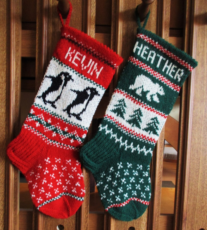 e950d029653 Knit Christmas Stockings 185 Personalized Hand knit