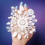 Original Papercut - Floral Burst - Handcut Paper Art