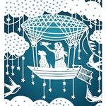 Star Explorer - 8x10 Print - Girl or Boy - Print of Papercut Illustration