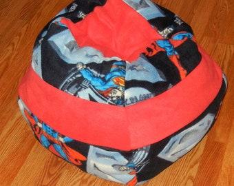 Large Fleece Pet Bed - Machine Washable - Superman