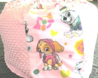 PINK Puppy Paw Patrol Bean Bag Chair Add A NAME  Chair Becomes Toy Storage  Container  Kids Pouf