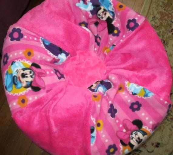 Minnie Mouse Bean Bag Chair Add A Name Kids Pouf Stuffed Etsy