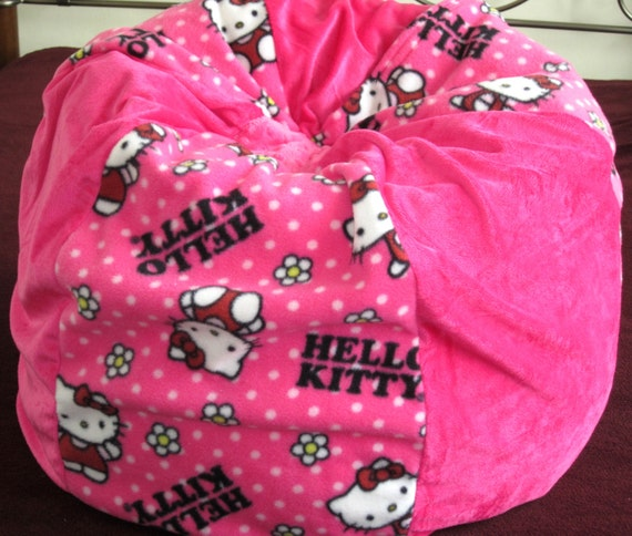 Miraculous Hello Kitty Bean Bag Chair Pink Kids Pouf Floor Cushion Stuffed Toy Up To 5Yrs Old Machost Co Dining Chair Design Ideas Machostcouk