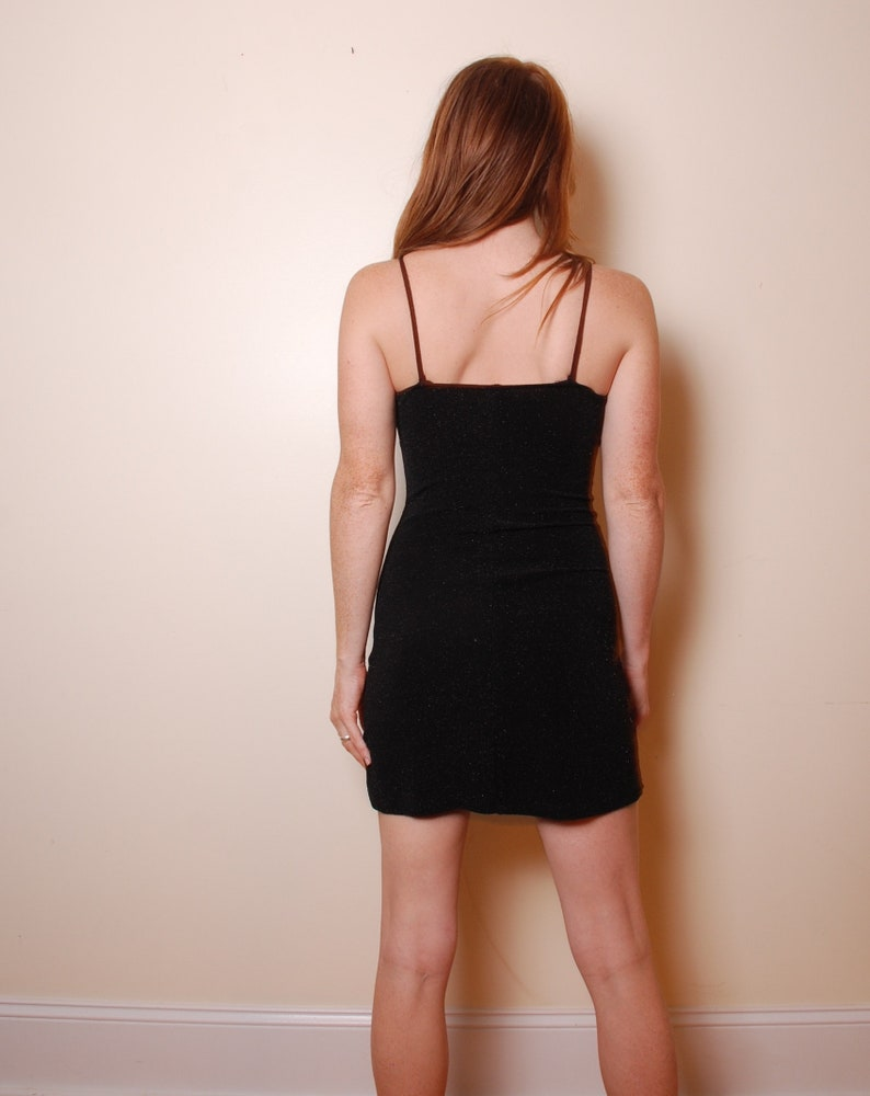 4a177775548 90s small sparkle mini dress spaghetti strap sleeveless | Etsy