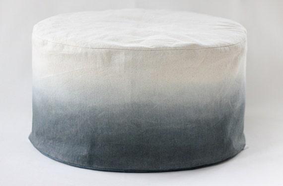 Super Charcoal Dip Dye Bean Bag Ombre Bean Bag Foot Stool Cover Pouf Ottoman Floor Cushion Machost Co Dining Chair Design Ideas Machostcouk