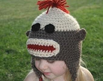 Sock Monkey Hat with Braids