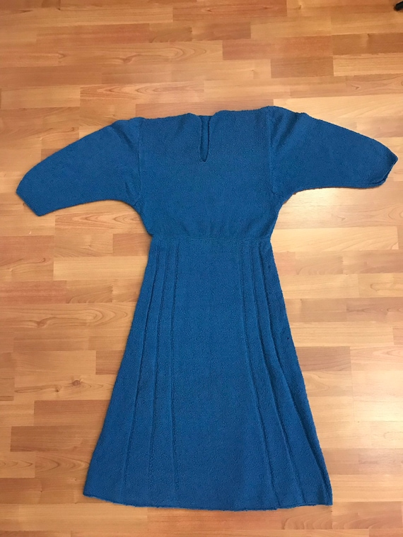 1940s blue knit sweater dress - image 10