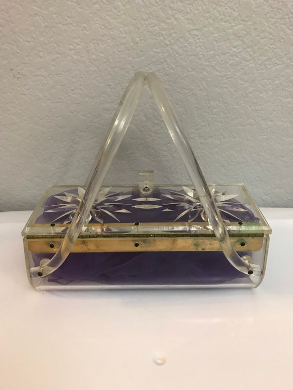 1950s Clear Lucite Purse - image 4