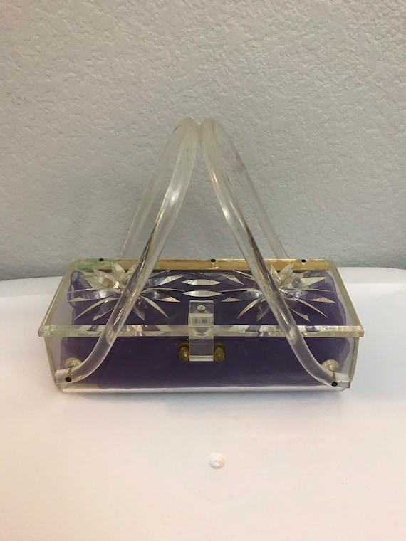 1950s Clear Lucite Purse - image 2