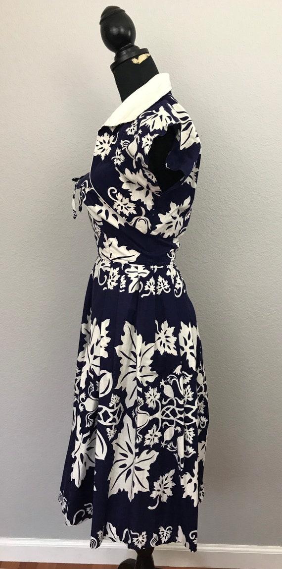 1950s Kamehameha Hawaiian tiki dress - image 5