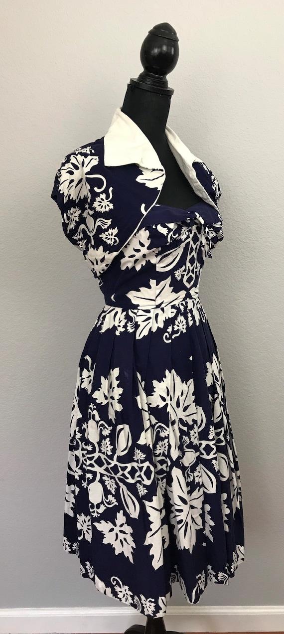 1950s Kamehameha Hawaiian tiki dress - image 8