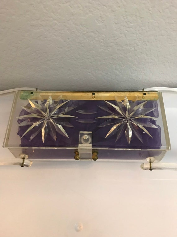 1950s Clear Lucite Purse - image 6