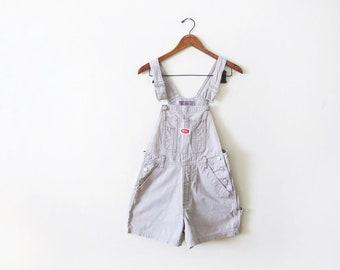 de11301ee1 Vintage 90s Shortalls - Tan Overall Shorts - Short Overalls Small - Womens  Shortalls - REVOLT Overalls - 90s Clothing Khaki Beige Overall S