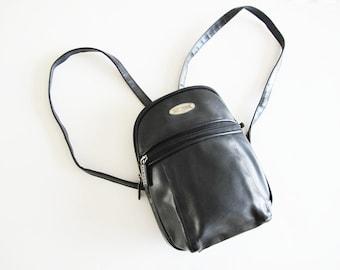 e9500940cb36 90s Mini Backpack - Faux Leather Vegan Backpack - Small Black Backpack -  Fake Leather Mini Backpack Purse - 90s Backpack Rucksack