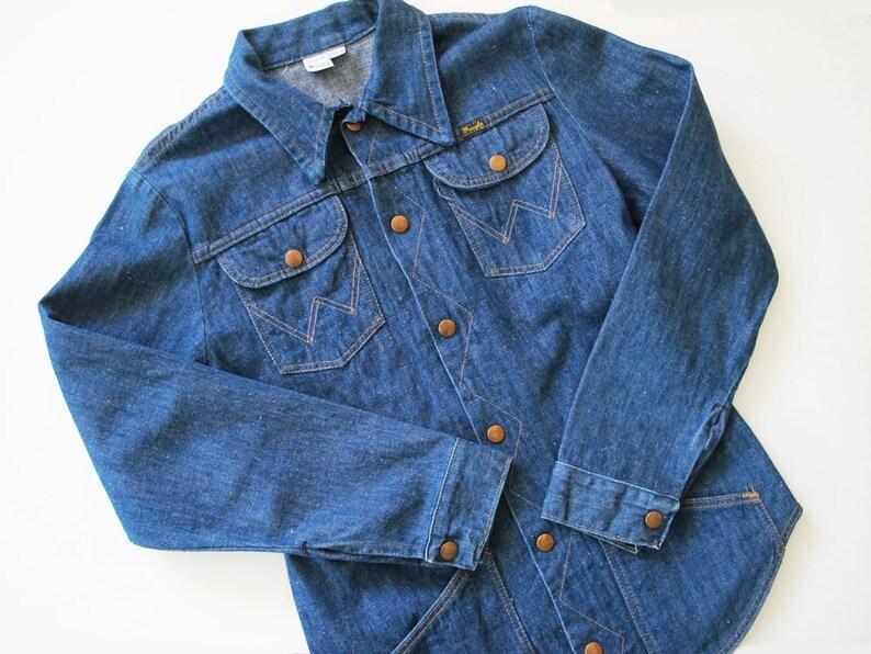6072d80ab3e Vintage Wrangler Denim Shirt 70s Wrangler Jean Shirt