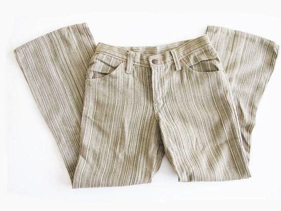 Vintage Green 60s Pants 28 - Flare Bell Bottom 60s