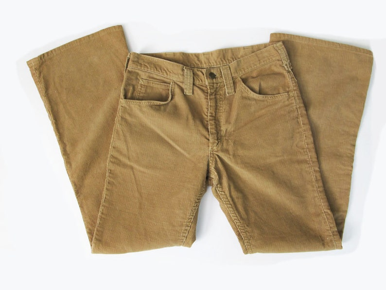 9f00e4f7 Vintage 70s Lee Corduroy Pants Tan Brown Womens Corduroy | Etsy