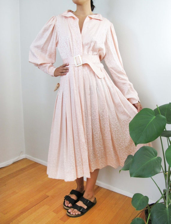 Vintage 80s Silk Dress S/M - Deadstock NWT 80s Pin