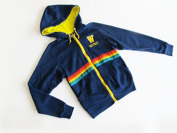 Vintage 70s Hoodie Sweatshirt XS S - 70s Rainbow S