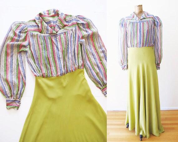40s Rayon Dress - Vintage 40s Rayon Dress - 40s Ma