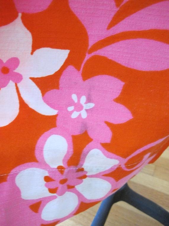 Vintage Barkcloth Dress - 60s Hawaiian Barkcloth … - image 7