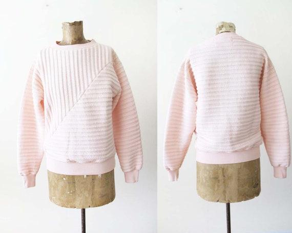 Vintage 80s Sweatshirt S - Quilted Sweatshirt - Pa