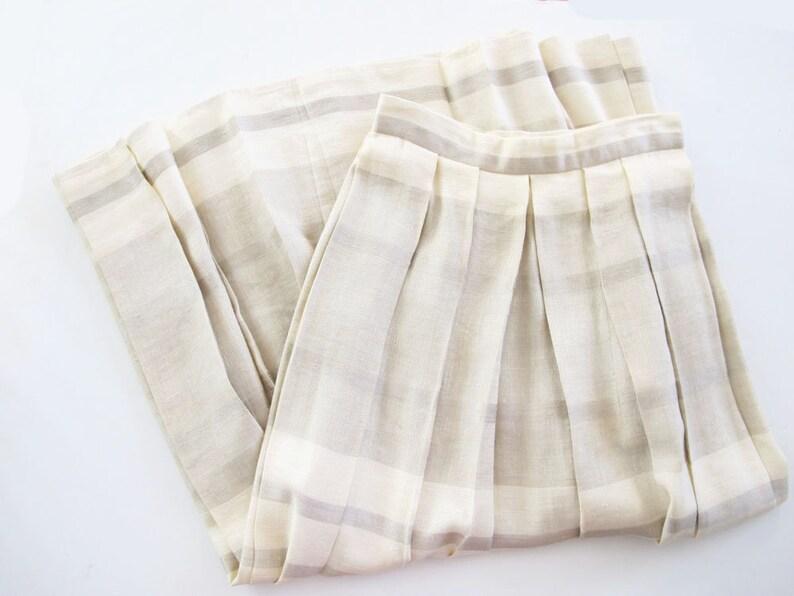 3b4bb9450e Vintage Linen Blend Skirt 90s Pleated Maxi Striped Long | Etsy