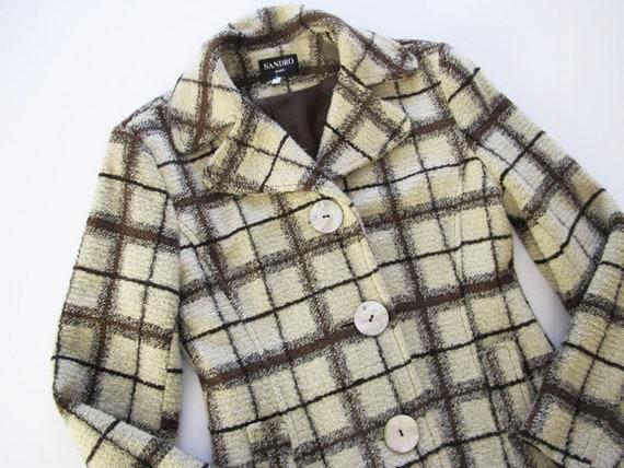 Plaid Jacket - 90s Plaid Jacket - Vintage Sandro J