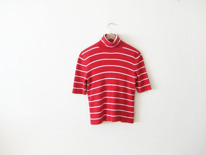 Vintage 90s Shirt Striped Shirt Striped Turtleneck Shirt  5ab579865