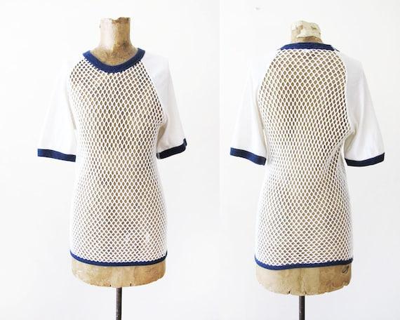 Vintage Mesh Shirt - 70s Scandinavian Knitters Mes
