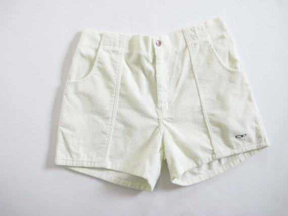 Vintage 90s OP Off White Corduroy Shorts 33-38 - V