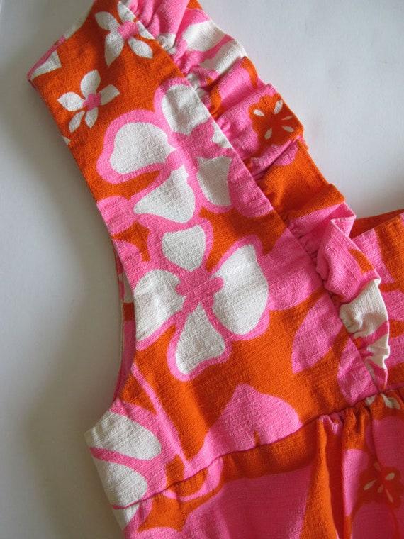 Vintage Barkcloth Dress - 60s Hawaiian Barkcloth … - image 10