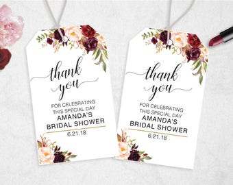 63d86d5effde Bridal shower thank you tags | Etsy
