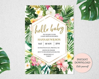 Tropical Baby Shower Invitation 301ba5ed38