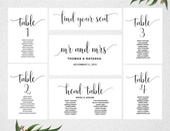 Crazy image with regard to printable wedding seating chart template