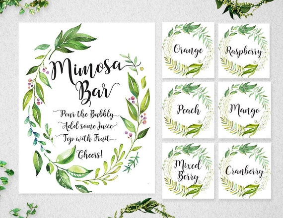 photograph relating to Mimosa Bar Sign Printable Free known as Mimosa Bar Labels Indicator, Mimosa Bar, Bar Indication, Mimosa Bar