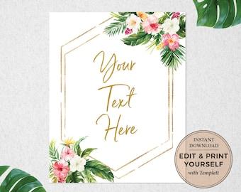 Editable Sign, Editable Template, Editable Wedding Sign, Editable Bridal Shower Sign, editable Baby Shower Sign, Templett, #PBB98