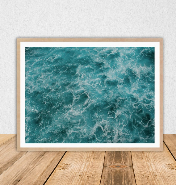 superb Ocean Wall Decor Part - 17: Ocean Wall Art -- INSTANT DOWNLOAD -- Waves -- Coastal -- Beach Wall Decor  -- Wall Art -- Digital Download -- Modern -- Printable
