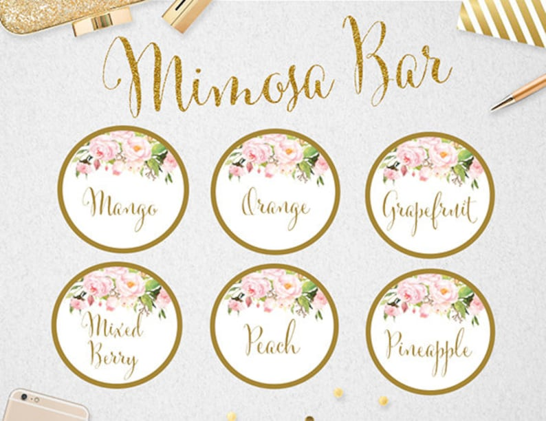 photograph relating to Mimosa Bar Sign Printable Free known as Mimosa Bar Juice Labels, Mimosa Bar, Editable Juice Labels, Wedding ceremony, Bridal Shower, Mimosa, Fast Down load, Printable, #PBP85