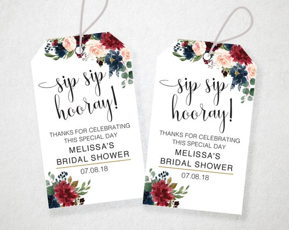 photograph regarding Sip Sip Hooray Printable referred to as Sip Sip Hooray Tags, EDITABLE, Immediate Obtain, Printable