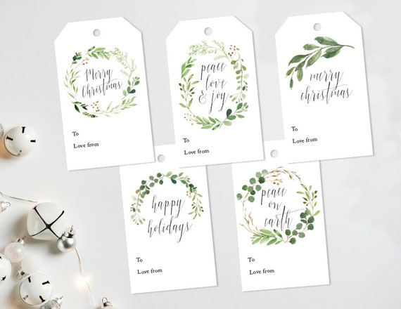 Christmas Tags Instant Download Printable Christmas Gift Tags