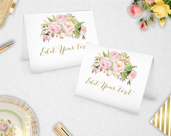 Place Cards // Food Labels // INSTANT DOWNLOAD // Editable // Printable // Wedding // Party // Bridal Shower // #PBP85