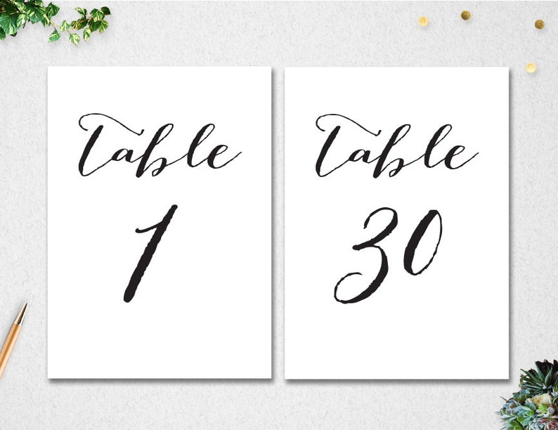 image about Printable Table Numbers identified as Printable Desk Figures 1-30 // Quick Obtain // 5x7 // Marriage // Bridal Shower // Do it yourself // printable