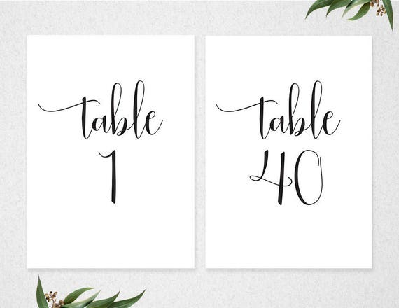 This is a graphic of Free Printable Table Numbers inside floral
