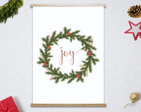 Christmas Print, Christmas Printable, Holiday Prints, Holiday Decor, Joy  Print, Christmas Digital Print, INSTANT DOWNLOAD By Paper Bear Printables  Catch My Party