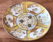 Vintage Imari Rare Yellow Ceramic plate