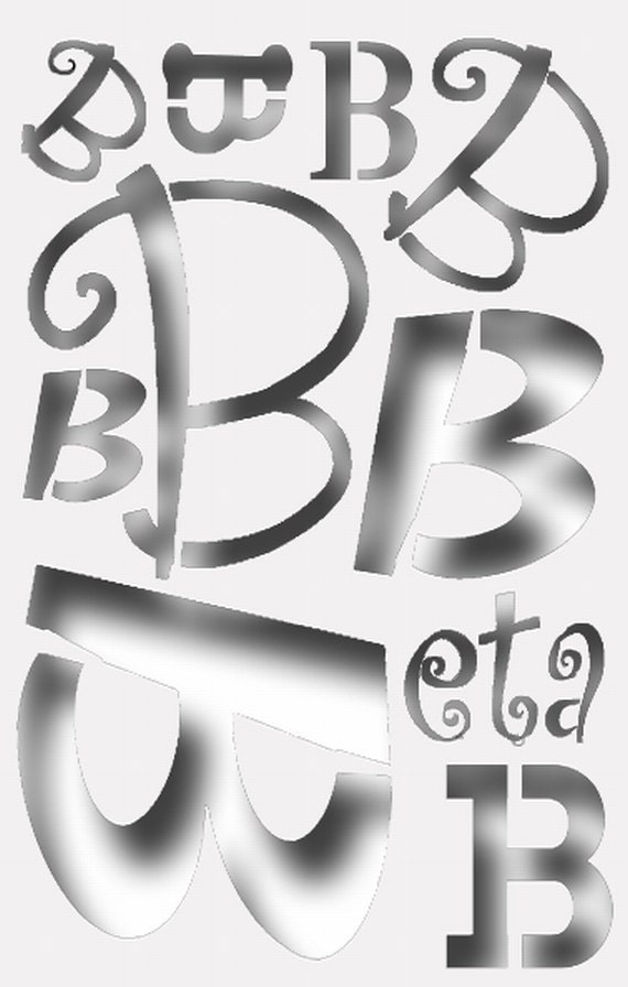 Greek Letter Beta Stencil For All Your Sorority Crafting Etsy