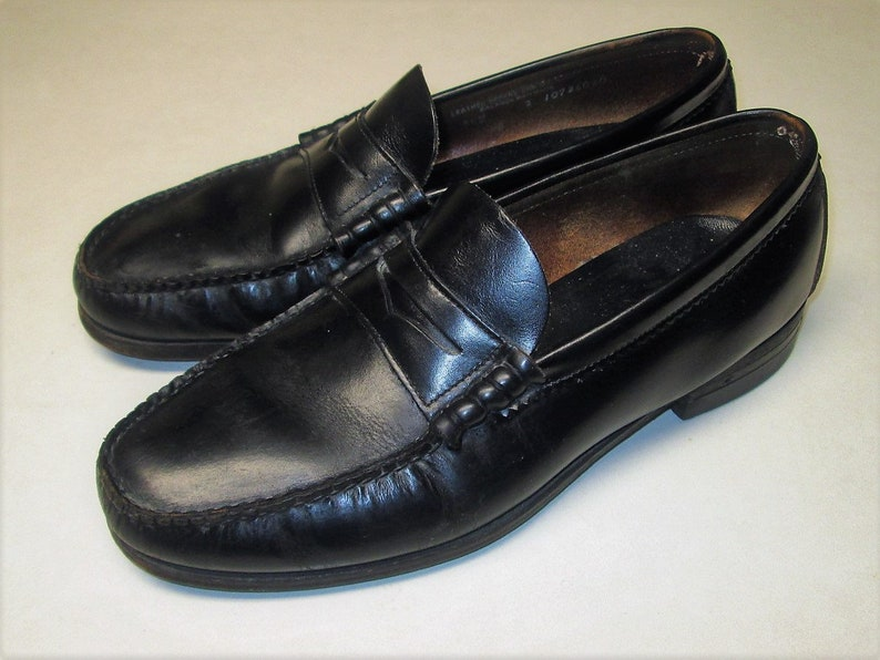 ff554a301 DEXTER Men s Sz 9 1 2 M Black Penny loafer Dress Shoes.