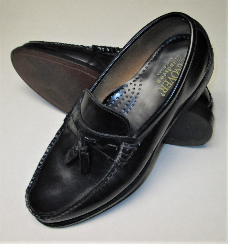 80d6dce9ac4 HANOVER Men s Sz 10 D Black tassel loafer Dress Shoes.