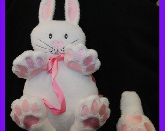 Tickle My Tummy Bunny for the 8x12inch/ 200 x300mm Embroidery Machine Hoop.